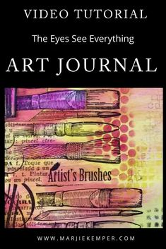 How to use tags in your art journal - video tutorial Art Journal Prompts, Art Journal Techniques, Art Journal Pages, Art Journaling, Junk Journal, Journals, Bob Ross Art, Art Journal Tutorial, Masks Art
