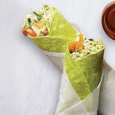 Made with protein-rich edamame instead of chickpeas, this easy hummus recipe is the perfect vegetarian filling for a grab-and-go wrap. Or double the recipe and use the hummus for a healthy snack with cut-up vegetables. Vegan Lunch Recipes, Vegan Lunches, Healthy Recipes, Vegetarian Meals, Vegetarian Sandwiches, Healthy Options, Diabetic Recipes, Dinner Recipes, Cheap Healthy Lunch