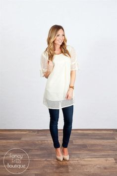 Spring Lace Tunic Dress- Fully Lined!