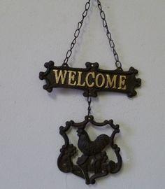 IJzeren welkombordje
