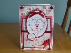 Ruby Wedding Card, used Lili of the Valley topper