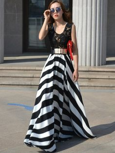 Long flare dress - 58621 USD $15.40