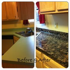 Opinions of a Moody Mama: Giani Granite Countertop Paint Kit Review#.UO166SWRbwl.pinterest