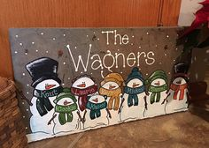 Snowman Welcome Sign Door Decor by LainyMichelleDesigns on Etsy