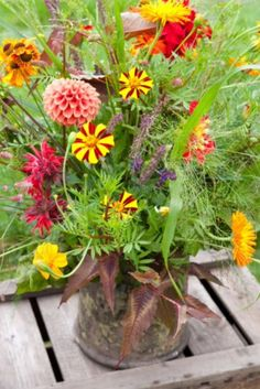 "This colourful bouquet is from our feature ""A Wild Bunch"""