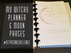 My Witchy Planner & Moon Phases | #ytpaganchallenge | Youtube Pagan Challenge Weeks 9 & 10 - YouTube