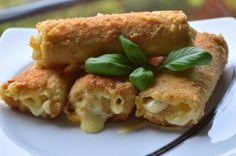 Krokiety z chleba tostowego z serem żółtym, na szybko