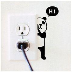 vinilos-pared-creativos-2 Wall Painting Decor, Diy Wall Art, Diy Painting, Small Wall Stickers, Wall Decals, Black Canvas Art, Greek Decor, Ideas Creativas, Home Desk