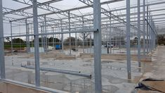 Steel work erection complete at Date Palm Developments with roof glazing now on going - turnkey projects - glasshouse Commercial Greenhouse, Glass House, Greenhouses, Palm, Steel, Projects, House Of Glass, Green Houses, Log Projects