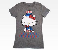 Hello Kitty for President Women's Tee: Sitting