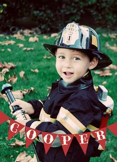 Firetruck Party - This would also be so CUTE for Halloween & just for everyday Play!   :)