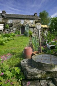 The garden at Beatrix Potter's house in Windermere