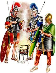 • Legionary infantryman, Legio II Adiutrix, late 1st C. AD  • Legionary infantryman, Trajanic period  • Auxiliary infantryman of a Cohors Equitata, Trajanic period