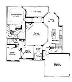 Spacious Open Floor Plan House Plans with the Cozy Interior : Modern Minimalist House Open Floor Plan House Plans Covered Patio: Same idea except 2 story, kitchen and dining under the master bed and bath with another bedroom. Then on the right, top bedrooms and bottom play/ library/office room.