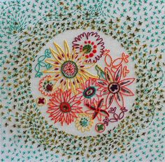 Alison Glass Design - Flowers Embroidery Pattern seen at The Village Haberdashery