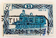 Belgium 8f train typ 1906 T.16 railway Briefmarke Eisenbahn Belgien Railway…