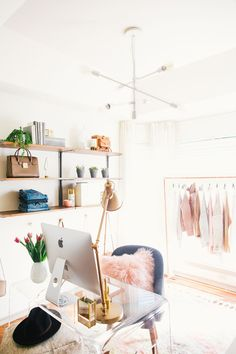 Before & After: My Cozy-Chic Home Office Reveal! - LivvyLand | Austin Fashion and Style Blogger