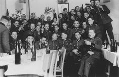 The men of SS Reserve Police Battalion 101 celebrate Christmas. Lodz, Poland 1940 [[MORE]] This unit was the subject of the acclaimed book Ordinary Men by historian Christopher Browning. Browning tried to understand how entire groups of men like this...