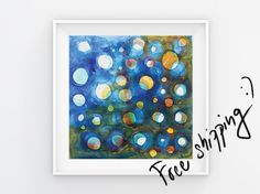 Abstract wall art Art painting Abstract painting by HildasArt