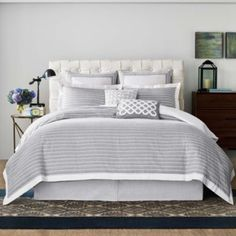 Real Simple Soleil Duvet Cover in Grey - BedBathandBeyond.com