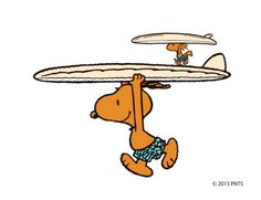 Snoopy, Surf's up! Love that Snoopy is tan! Peanuts Cartoon, Peanuts Snoopy, Snoopy Pictures, Joe Cool, Charlie Brown And Snoopy, Humor Grafico, Snoopy And Woodstock, Surf Art, Surfs Up