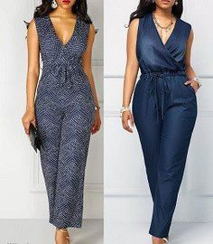 Clothing Patterns, Dress Patterns, Dress Outfits, Fashion Outfits, Latest African Fashion Dresses, Jumpsuit Pattern, Denim Jumpsuit, Fashion Sewing, African Dress