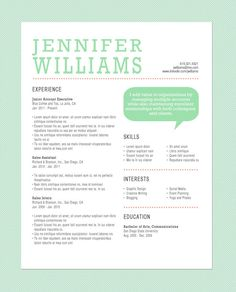 Customized Resume The Standard by LittleMissMBA on Etsy
