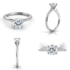 Danhov Unito engagement ring. Handmade in the USA.