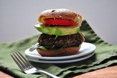Gluten-free Black Bean, Mushroom & Pesto Veggie Burgers