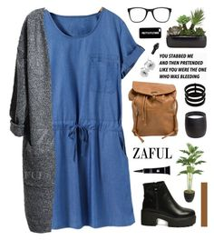 """www.zaful.com/?lkid=5694"" by novalikarida ❤ liked on Polyvore featuring Roxy, Laura Ashley, H&M, Carrera, Dermablend, Repossi, Linea and zaful"