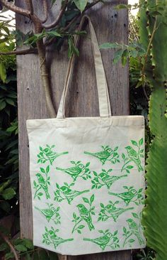 Hedge of Birds Tote by Dishragstudio on Etsy, $20.00