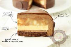 Zumbo's Just Desserts, Layered Desserts, Small Desserts, Fancy Desserts, Vegan Desserts, Baking Recipes, Cake Recipes, Dessert Recipes, German Torte Recipe
