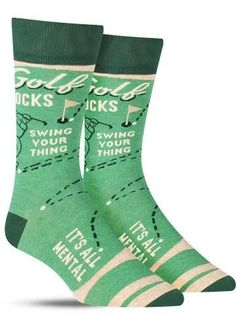 These fun socks aren't for just Sundays on the range.. they mean business. While they may encompass your optimism at the beginning of the round, a greater repre