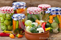 Jars With Pickles, Tomatoes And Chillies - Download From Over 50 Million High Quality Stock Photos, Images, Vectors. Sign up for FREE today. Image: 60400588