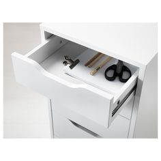 "ALEX Drawer unit, white, 14 1/8x27 1/2"" - IKEA Ikea Alex Dupe, Tocador Vanity, Ikea Alex Drawers, Plastic Drawers, Vanity Room, Drawer Unit, Room Ideas Bedroom, Sewing Desk, Particle Board"
