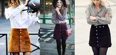 Patrones de falda campana con botones