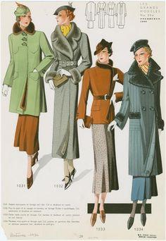1930s fashions.