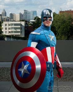 Introducing Mike as Marvel Cinematic Universe Captain America! Mike debuted his Captain America at Megacon last year, and was part of the group shoot at Dragon*Con in September.    Photography by Bryan Humphrey.    Marvel's use of all photos are governed by the Marvel.com Terms of Use and Privacy Policy.    http://fans.marvel.com/jstephens/blog/2012/09/25/marvel.com%E2%80%99s_second_annual_costoberfest