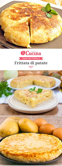 Frittata di patate by angelia Crepes, Egg Recipes, Cooking Recipes, I Love Food, Good Food, Make Ahead Mashed Potatoes, Classic Potato Salad, Sweet Potato And Apple, Food 52