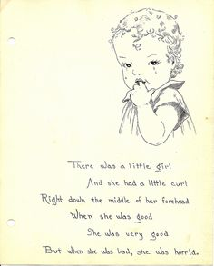 The Little Girl with a Curl Illustration by Zero Discipline, via Flickr