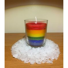#rainbow #candle Candle Holders, Rainbow, Candles, Rain Bow, Rainbows, Porta Velas, Candy, Candle Sticks, Candlesticks