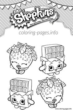 Shopkins Cheeky Chocolate And Strawberry Kiss Coloring Pages Printable Book To Print For Free Find More Online Kids