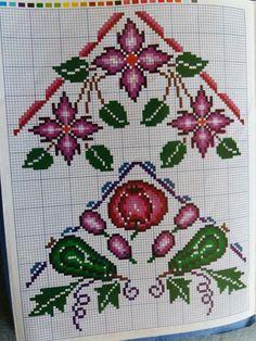 Cross Stitch Books, Cross Stitch Borders, Cross Stitch Flowers, Simple Cross Stitch, Crochet Motif, Woody, Embroidery, Pattern, Herb