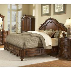Homelegance�Prenzo Warm Brown Queen Bedframe