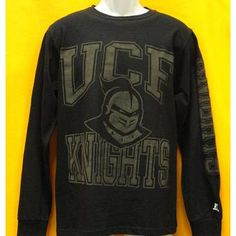 Long Sleeve Knightro Tee Black @ Gray's College Bookstore