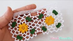 knitting projects for babies Crochet Borders, Crochet Motif, Crochet Flowers, Knit Crochet, Knitting Stitches, Free Knitting, Knitting Patterns, Crochet Patterns, Lace Runner