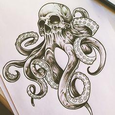 64 ideas for tattoo leg girl skull - - tatoo feminina - tattoo feminin Kraken Tattoo, Mädchen Tattoo, Skull Girl Tattoo, Tattoo Bein, Girl Skull, Tatoo Henna, Tattoo Style, Skull Art, Calavera Tattoo