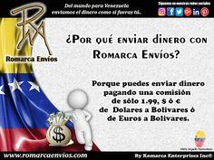 #RomarcaEnvios te ofrece las comisiones más bajas.  #EnvioDeDinero #VenezolanosEnElExterior