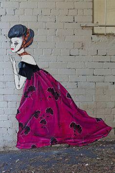 by Lucy LUCY - street artist Street Art Photography, Artistic Photography, Photography Ideas, Sculpture Art, Sculptures, Street Art Banksy, Amazing Street Art, Beautiful Streets, Land Art