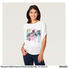 Women's Bella+Canvas Flowy Circle Top - pep